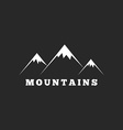 Mountains logo travel or tourism icon black and vector image vector image
