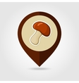 Mushroom mapping pin icon Harvest Thanksgiving vector image vector image