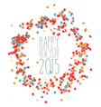 New year 2015 confetti celebration vector image