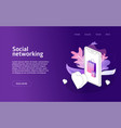 online shop social network website landing vector image