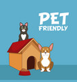 pet friendly cartoon vector image