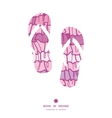 pink ruffle fabric stripes flip flops silhouettes vector image vector image
