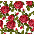 red rose seamless pattern for your design vector image vector image