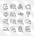 search icons smartphone technology email laptop vector image vector image