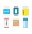 set erasers with sliding sleeves vector image vector image