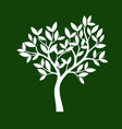 shape of white tree vector image vector image