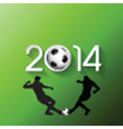 Silhouettes of football or soccer players vector image vector image