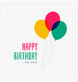 simple happy birthday greeting design vector image vector image