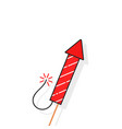 simple rocket for firework vector image vector image