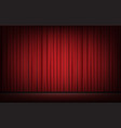 stage with red curtain background vector image