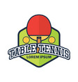 table tennis ping pong logo with text space vector image vector image