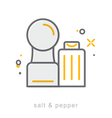 Thin line icons Salt Pepper vector image vector image