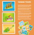 travel memories flat web banner vector image