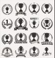 trophy retro laurel wreath colllection vector image vector image