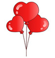 valentine balloons vector image