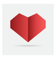 valentine love red heart paper craft in frame art vector image vector image