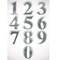 Vintage style numbers typeset vector image