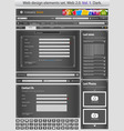 web design elements set black 1 vector vector image vector image