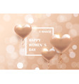 womens day 8 march holiday celebration banner vector image