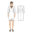womens dress vector image vector image