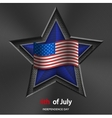 4th of july background USA Independence Day vector image