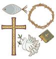 christian symbol vector image