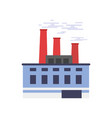 industrial building power or chemical plant vector image