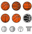Set of basketball balls vector image