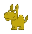 Camel Cartoon Style Funny Animal on White vector image