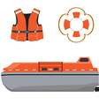 Life boat jacket and buoy vector image