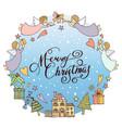 a christmas greeting card vector image