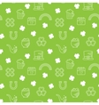 Abstract green seamless line art pattern vector image vector image