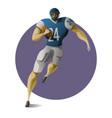american football halfback carrying ball vector image