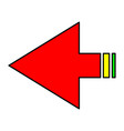 arrows navigation vector image vector image