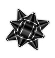 black bow ribbon 3d decor element package shiny vector image vector image