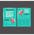 Brochure Flyer Happy Valentines Day design vector image vector image
