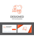 business logo template for insurance family home vector image