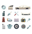 car parts automobile creation kit with gear vector image vector image