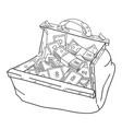 cartoon image of huge bag of money vector image vector image