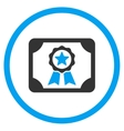 Certificate Circled Icon vector image vector image