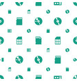 compact icons pattern seamless white background vector image vector image