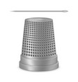 creative of needle thimble vector image