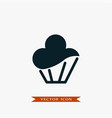cupcake icon simple food vector image vector image