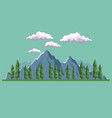 daytime background landscape of mountain and vector image vector image