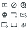 Digital criminal icons set vector image vector image