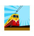 Electric Passenger Train Retro vector image vector image