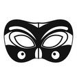 eyes carnival mask icon simple style vector image
