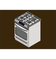 Gas stove isometric flat vector image vector image