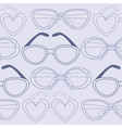 Glasses seamless pattern retro sunglasses vector image