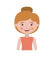 half body woman with collected hair vector image vector image